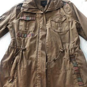 Woman's army inspired light weight jacket